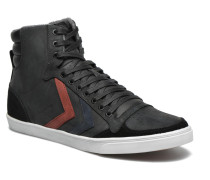 Ten Star Duo Oiled High Sneaker in schwarz