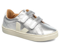 Esplar Small Velcro Leather Sneaker in silber