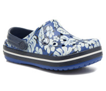 Crocband Tropical Print Clog K Sandalen in blau