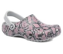 Classic Snake graphic Clog Clogs & Pantoletten in grau