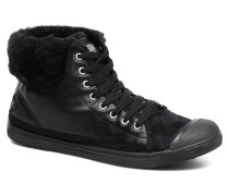 Basic 03 Fur Sneaker in schwarz