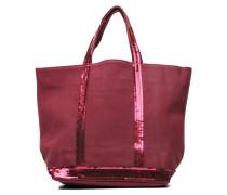 Cabas cuir nubucké paillettes M Handtaschen für Taschen in weinrot