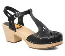Lacy Sandal Sandalen in schwarz