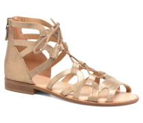 Spartiate Montante Sandalen in beige