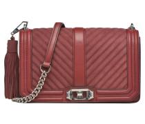 Chevron Quilted Love Crossbody Handtaschen für Taschen in weinrot