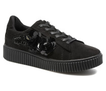 Black Flowers Sneaker in schwarz