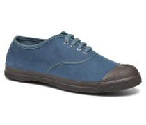 Tennis Vintage Velours Sneaker in blau