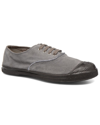 Tennis Suedpiping F Sneaker in grau