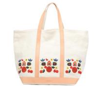 Cabas lin brodé M+ Handtaschen für Taschen in weiß