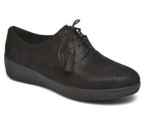 Classic Tassel Superoxford Schnürschuhe in schwarz