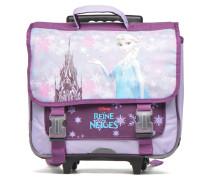 Cartable 38cm Trolley Reine des neiges Schulzubehör für Taschen in lila