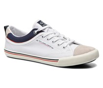 Britt Piping Sneaker in weiß
