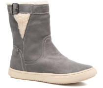 Black Mid Stiefel in grau