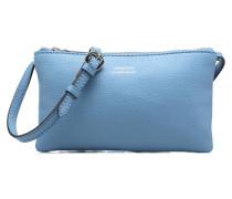 Double zip Handtaschen für Taschen in blau