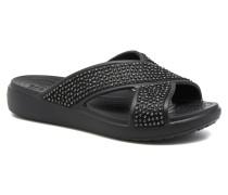 Sloane Embellished Xstrap Clogs & Pantoletten in schwarz