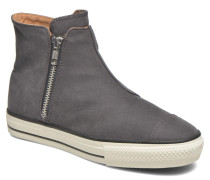 Ctas High Line Peached Canvas Mid Sneaker in schwarz