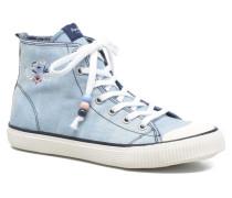 Industry Embroidery Sneaker in blau