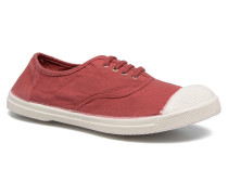 Tennis Lacets Sneaker in weinrot