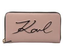 Kmetal Signature Zip Wallet Portemonnaies & Clutches in rosa