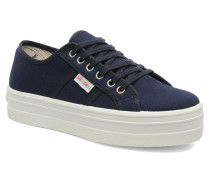 Blucher Lona Plataforma Sneaker in blau