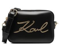 K Signature Camera Bag Handtasche in schwarz