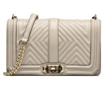 Geo quilted Love Crossbody Handtaschen für Taschen in beige