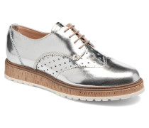 Crissy Metal Lace up Schnürschuhe in silber