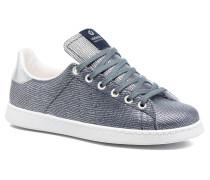 Deportivo Basket Tejido Textile Sneaker in blau