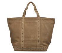 Cabas cuir velours œillets L Handtaschen für Taschen in grün