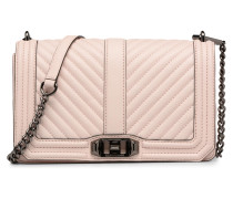 Chevron Quilted Love Crossbody Handtaschen für Taschen in rosa