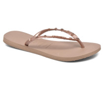 Slim Hardware Zehensandalen in goldinbronze