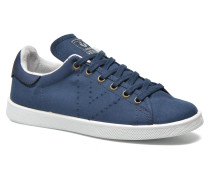 Deportivo Basket Lona Tinta Sneaker in blau