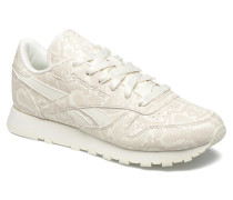 Cl Lthr Snake Sneaker in beige