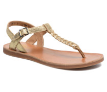 Plagette Antic Tong Sandalen in goldinbronze