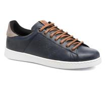 Deportivo Piel PU Contraste Sneaker in blau