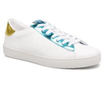 Deportivo Piel Metalizado Sneaker in blau