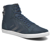 Ten Star Smooth Canvas High Sneaker in blau