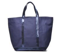 Cabas paillettes toile Porté épaule M+ Handtaschen für Taschen in blau
