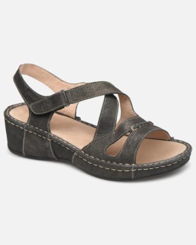 Vermeil Sandalen in schwarz