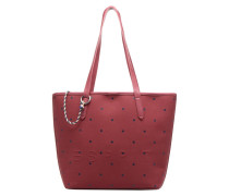 Alison Dot Shopper Handtasche in weinrot