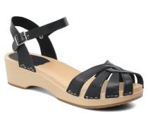 Cross Strap Debutant Sandalen in schwarz