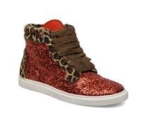 Sibilla Glitter Sneaker in rot