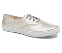 Ingles Tejido Tornosolado Sneaker in silber
