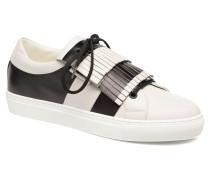 Stripe Fringe Sneaker in weiß