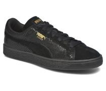 Wns Suede Sneaker in schwarz