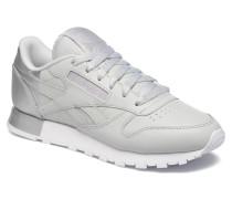 Cl Lthr Matte Shine Sneaker in grau
