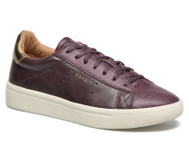 Lizette Lace Up Sneaker in weinrot