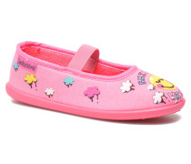 Ballerine Smiley Cloud Hausschuhe in rosa