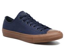 Chuck Taylor All Star II Ox Tencel Canvas Sneaker in blau