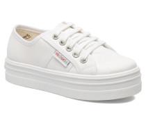 Blucher Lona Plataforma Kids Sneaker in weiß